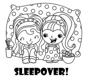 perfect coloring sleepover party coloring activity free sleepover
