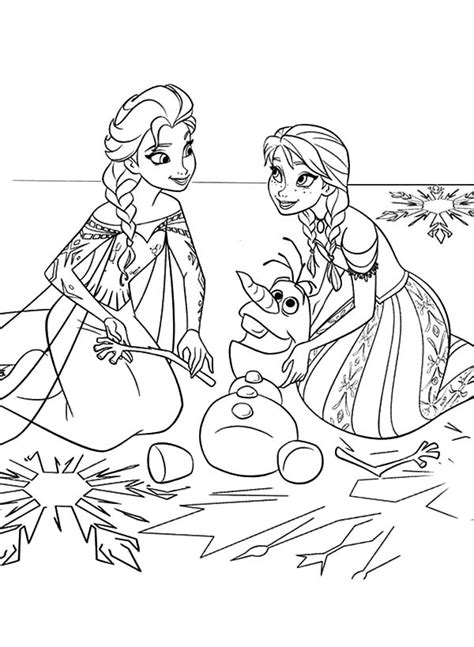 elsa and anna free colouring pages