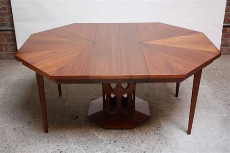 Octagon Dining Table Octagonal Walnut Dining Table Attributed To Harvey Probber At 1stdibs