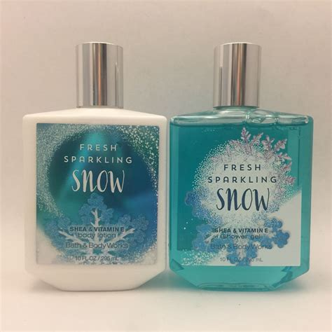 Fresh Sparkling Snow Bath And Works Original bath works fresh sparkling snow lotion shower gel set 10 fl oz new what s it worth