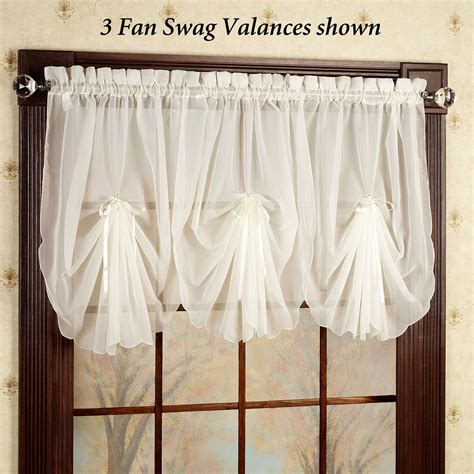White Valance Curtains White Sheer Valance Curtain Soozone