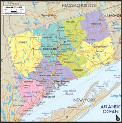 detailed political map of connecticut ezilon maps