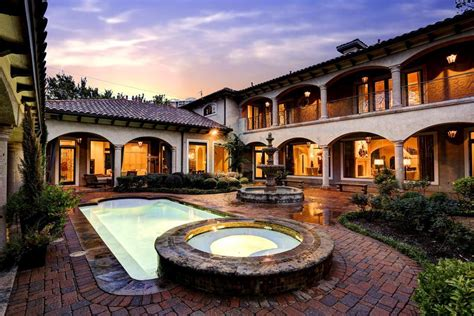hacienda with courtyard pool and home design the mountain
