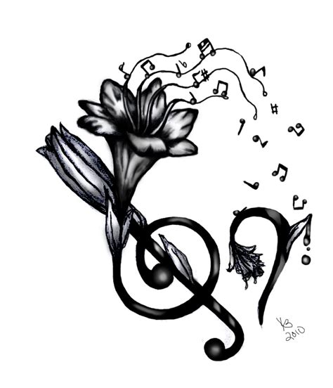 music and flower tattoo designs differentstrokesfromdifferentfolks notes designs