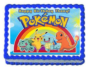 pokemon cake decorations ebay