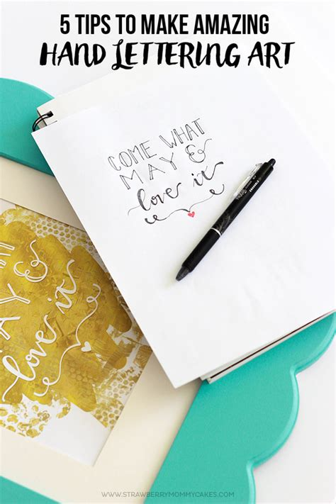 5 tips to make amazing hand lettering art printable crush