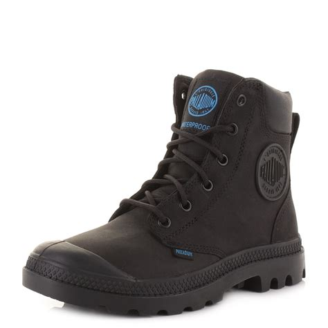 palladium boots womens palladium pa cuff wp black lace up