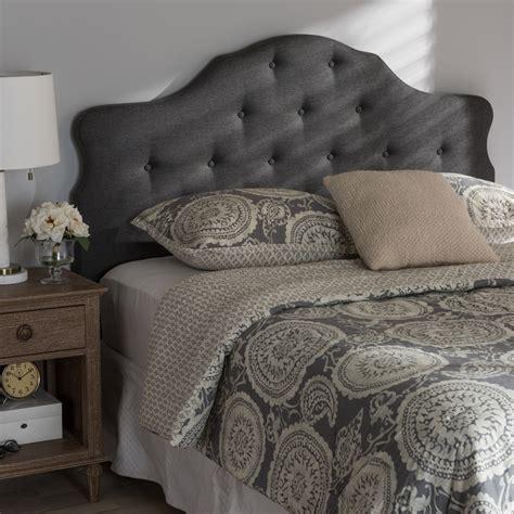 fabric king size headboard baxton studio dacia modern and contemporary dark grey