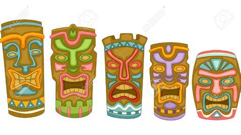 tiki clip hawaii clipart tiki mask pencil and in color hawaii