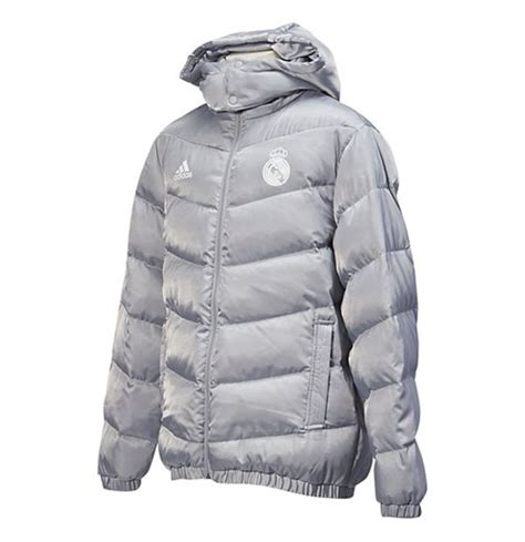 Parka Bola Real Madrid Army 2015 2016 real madrid adidas jacket clear onix for only 163 83 33 at merchandisingplaza uk