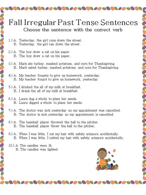 sentence pattern past tense speechie freebies november 2013