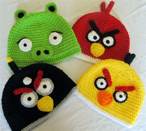 gorros de angry birds apexwallpapers com touca de croch 234 angry birds e bad piggies gorro chapeu