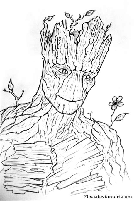 I M Drawing A by Images For Gt Groot Marvel Drawing Mine