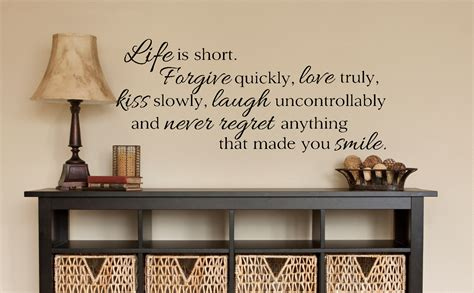 life  short quote decor wall decals