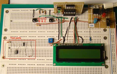 pn junction diode experiment connections using breadboard microcontroller based diode and bipolar junction transistor bjt tester embedded lab