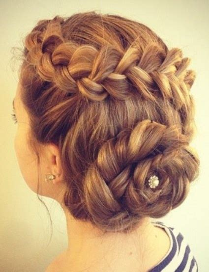 formal hairstyles messy bun with braid 20 messy bun hairstyles for prom