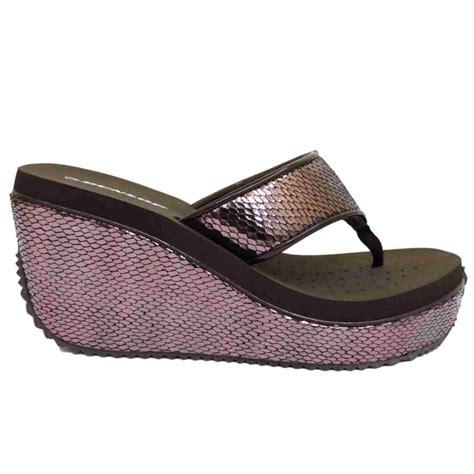 flip flop wedge sandals brown dunlop platform wedge sandals toe post flip