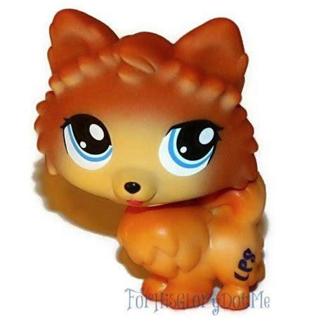 lps pomeranian littlest pet shop lps 1317 pomeranian wolf puppy cat blue htf