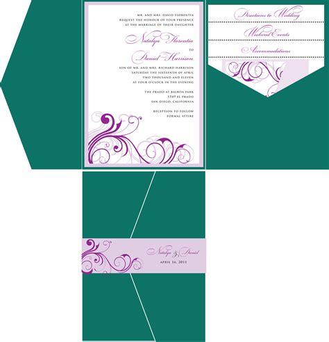 purple wedding invitation templates diy wedding invitation template