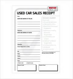 vehicle receipt template car sale receipt template 6 free word excel pdf