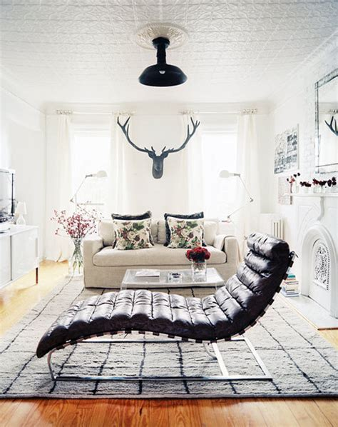 chaise masculine or feminine black white living room leather chaise linen couch