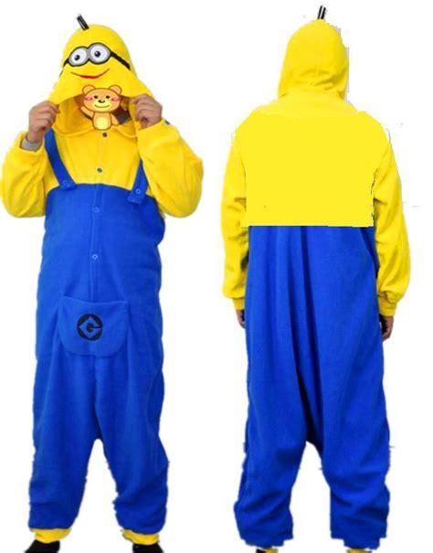Minion Piyama new despicable me minions pyjamas unisexe adulte romper minion onesie pyjama costume pyjamas