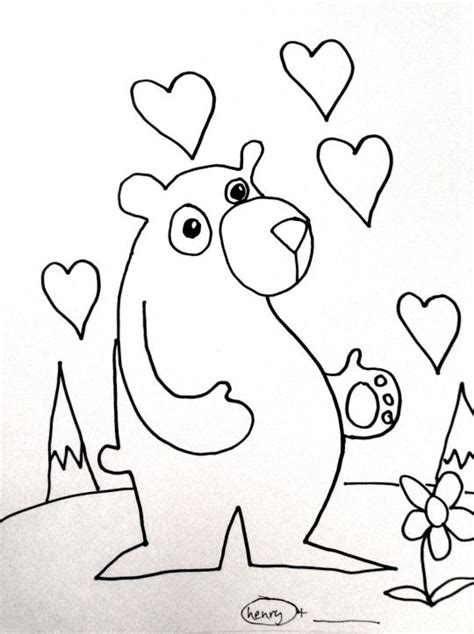 bear hug coloring pages 127 best the art of ryan henry ward henry images on