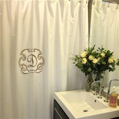 monogram curtains deluxe monogrammed shower curtain traditional shower