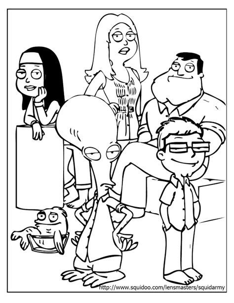 american dad coloring pages az coloring pages