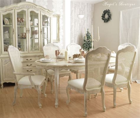 shabby chic white dining table and chairs second hand household nurani