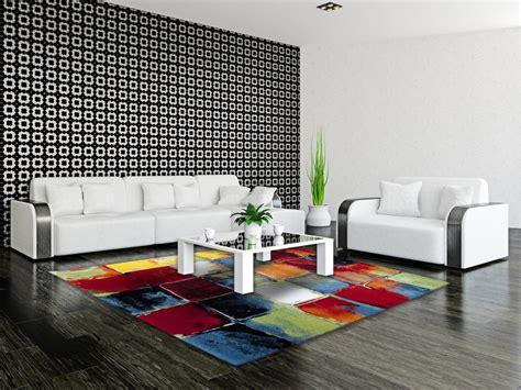 Délicieux Tapis Moderne Pour Salon #10: Tapis-moderne-et-multicolore-de-salon-bahia.jpg