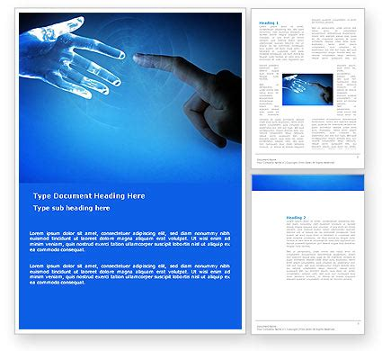 people and technology brochure template design and layout