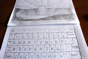 Make My Paper - how to make a laptop on paper 10 steps with pictures