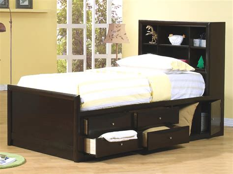 Cappuccino Dining Room Furniture Collection by Phoenix Twin Bed With Underbed Storage