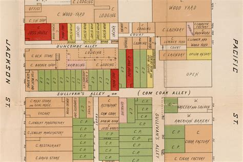 san francisco map of chinatown 1885 map reveals vice in san francisco s chinatown and