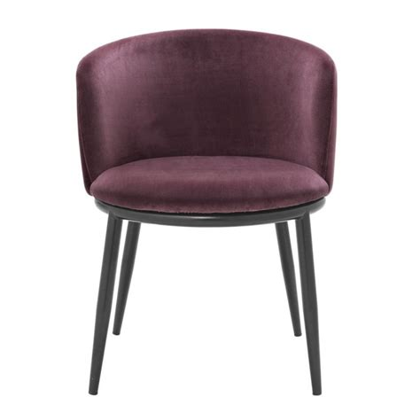 purple dining chair style about dining chair balmore almond purple velvet set of 2 in the style of the 50s with an