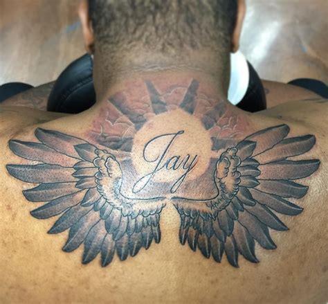 tattoo below neck pain 21 angel wing tattoo designs ideas design trends