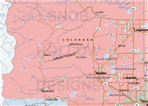 Boulder Colorado Map by Boulder County Colorado Color Map