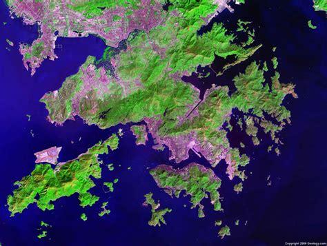 satellite maps hong kong map and satellite image