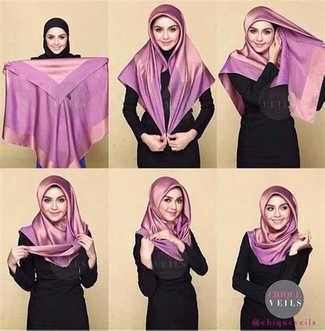 tutorial hijab pesta segi empat satin 25 kreasi tutorial hijab segi empat simple terbaru 2018