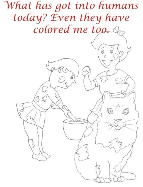 Holi Coloring Printable Page For Kids 18 Holi Colouring Pages