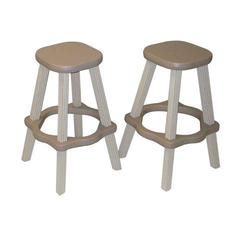 plastic stackable bar stools shop confer plastics patio essentials stackable set of 2