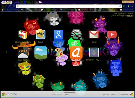 chrome themes homestuck homestuck google chrome theme by googlechromethemes on
