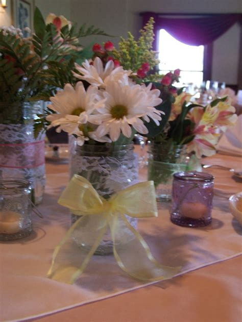table decorations for wedding rehearsal dinner photograph - Dinner Centerpiece