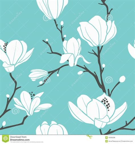 magnolia pattern stock vector image of nature spring