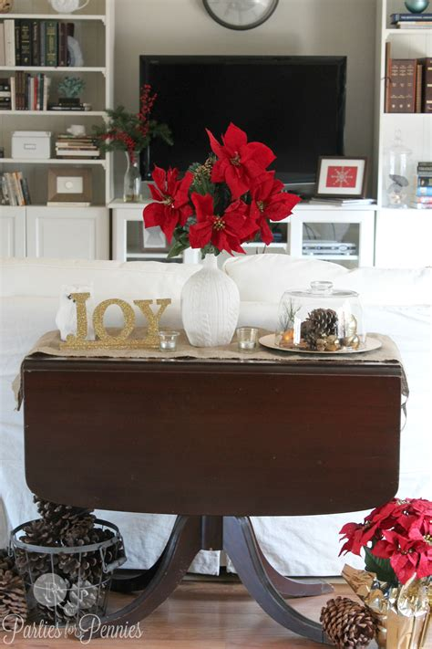 decorating ideas for sofa tables christmas decorating ideas parties for pennies