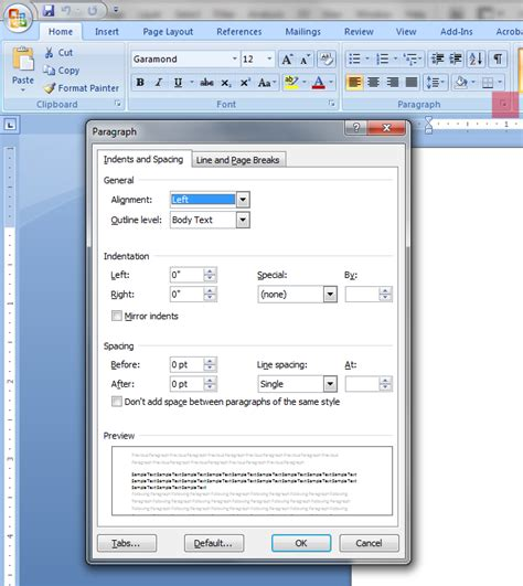modifying the ms word 2007 2010 normal dotm template