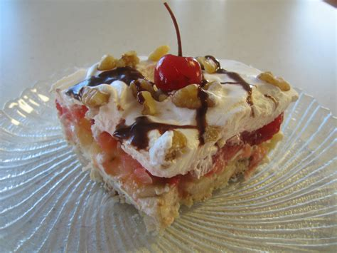 Banana Split Desert For The Banana Split Layer Dessert
