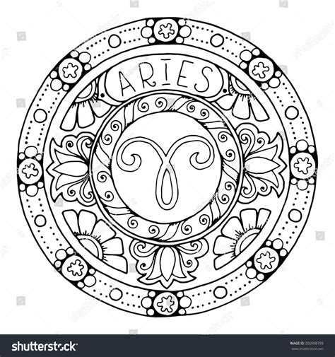 free mandala coloring pages what s your sign royalty free zodiac sign of aries and constellation
