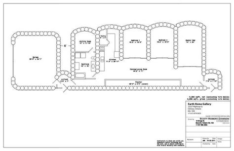 earthship blueprints floor plan of tire house